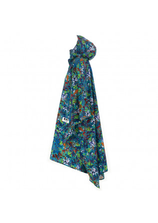WOMEN'S WATERPROOF CAPE OOF | GREEN MULTICOLOR