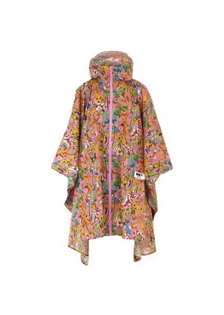 WOMEN'S WATERPROOF CAPE OOF PINK  MULTICOLOR