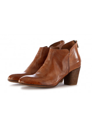 WOMEN'S ANKLE BOOTS OFFICINE CREATIVE BROWN LEATHER