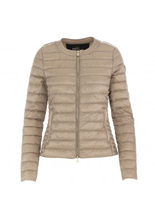 WOMEN'S DOWN JACKET CIESSE PIUMINI BEIGE ROUND NECK
