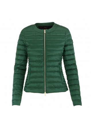 WOMEN'S DOWN JACKET CIESSE PIUMINI GREEN ROUND NECK