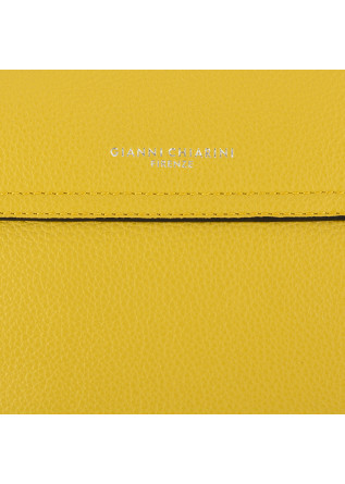 WOMEN'S SHOULDER BAG GIANNI CHIARINI | YELLOW LEATHER