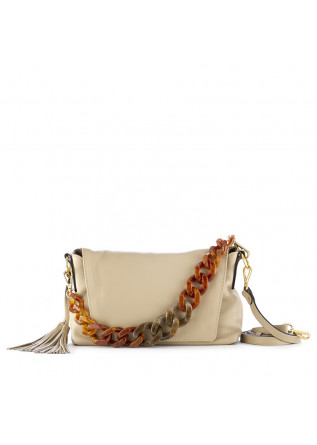 women's shoulder bag gianni chiarini beige leather