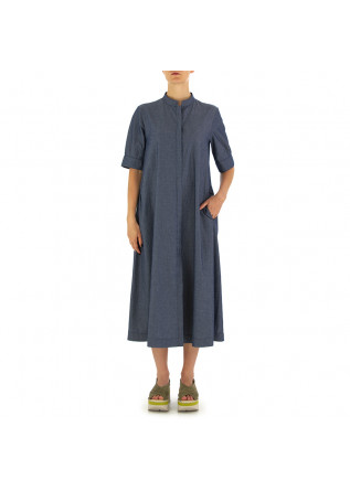 WOMEN'S DRESS BIONEUMA | BLUE DENIM COTTON