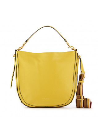 borsa a spalla da donna gianni chiarini giallo pelle