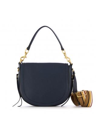 women's shoulder bag gianni chiarini blue leather round