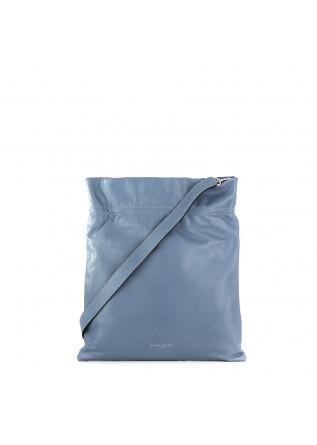 borsa a spalla da donna gianni chiarini azzurro pelle memory