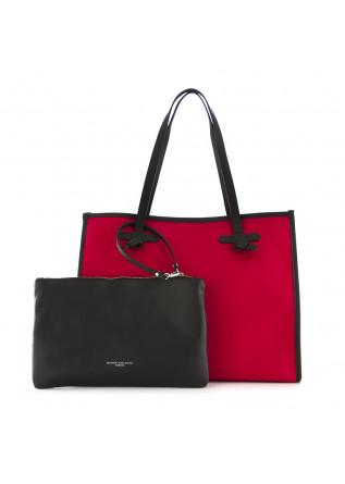women's shoulder bag marcella gianni chiarini red canvas