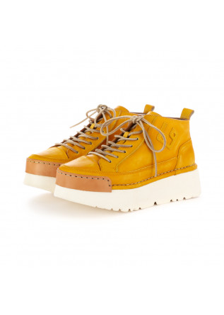 WOMEN'S PLATFORM SHOES BNG REAL SHOES YELLOW