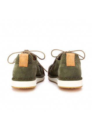 MEN'S FLAT SHOES BNG REAL SHOES   GREEN HANDMADE