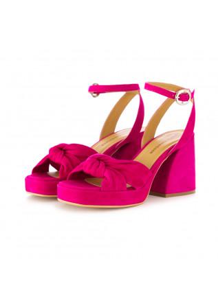 women's sandals poesie veneziane suede fuchsia