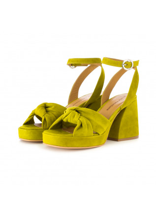 women's sandals poesie veneziane suede green