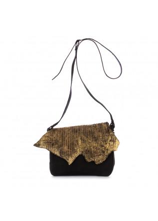 borsa tracolla da donna papucei zoe pelle nero oro