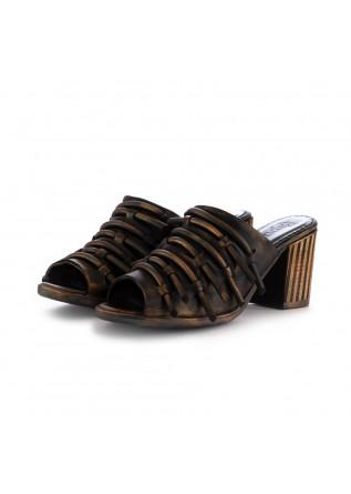 sandali sabot da donna papucei dalinda nero bronzo pelle