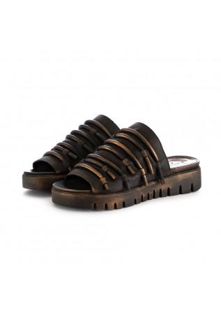 damen sabot papucei demos schwarz bronze leder