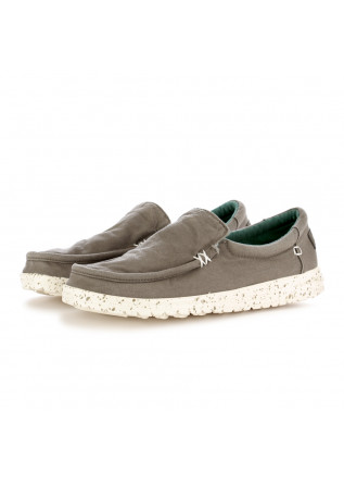 MEN'S FLAT SHOES HEY DUDE WASHED GREY