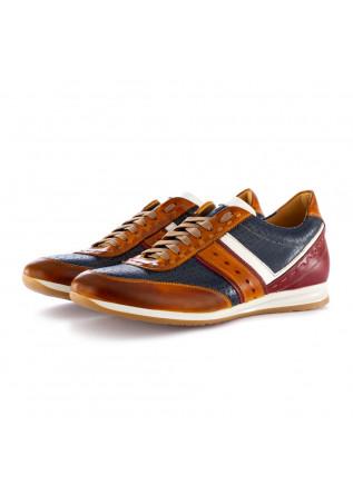 scarpe allacciate uomo 100% fatto in italia albert giallo multicolor