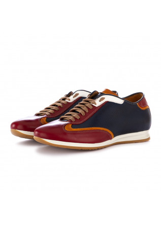 men's lace-up shoes 100% fatto in italia alfred blue red