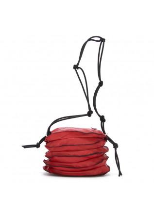 borsa tracolla da donna papucei rosso vera pelle fisarmonica