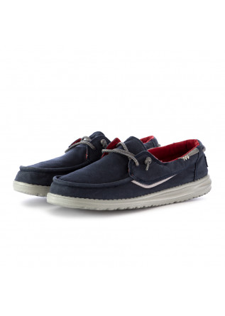 SCARPE BASSE UOMO HEY DUDE WELSH WASHED BLU