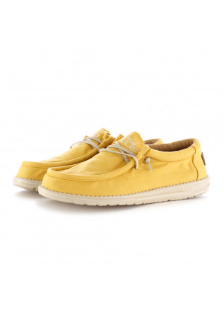 MEN'S FLAT SHOES HEY DUDE | WALLY WASHED YELLOW