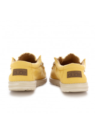 SCARPE BASSE UOMO HEY DUDE | WALLY WASHED GIALLO