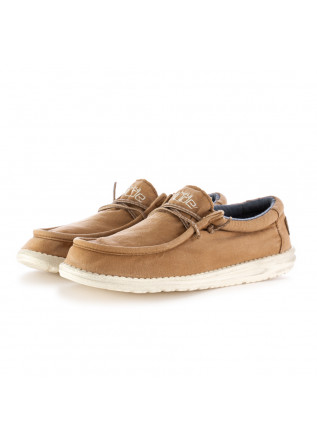 MEN'S FLAT SHOES HEY DUDE WALLY WASHED BEIGE