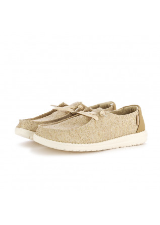 WOMEN'S FLAT SHOES HEY DUDE | WENDY SPARKLING BEIGE