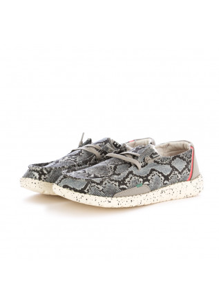 WOMEN'S FLAT SHOES HEY DUDE WENDY JUNGLE GREY