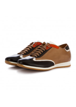 men's lace-up shoes 100% fatto in italia alfred beige brown