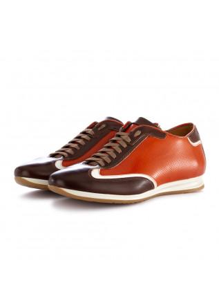 scarpe allacciate uomo 100% fatto in italia alfred arancione