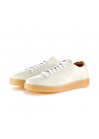 sneakers donna manovia 52 bianco latte pelle