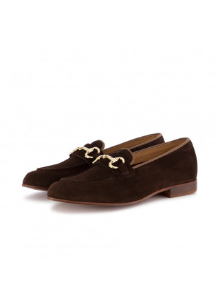 WOMEN'S FLAT SHOES MANOVIA 52 | BROWN SUEDE