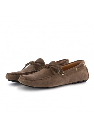 MEN'S FLAT SHOES LOAFERS MANOVIA 52 | BROWN SUEDE