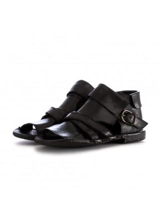 WOMEN'S ANKLE SANDALS MANOVIA 52 LUX BLACK LEATHER