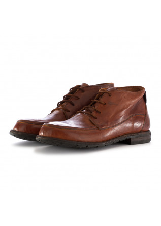 MEN'S LACE-UP ANKLE BOOTS MANOVIA 52 INTENSE BROWN LEATHER