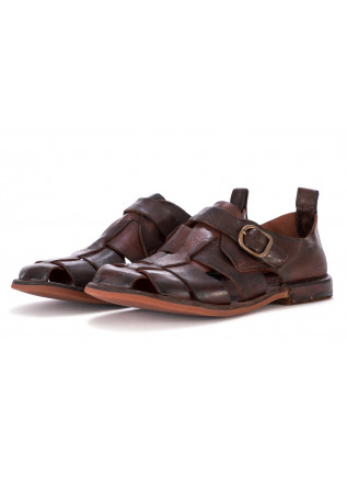 MEN'S SANDALS MANOVIA 52 DARK BROWN LEATHER