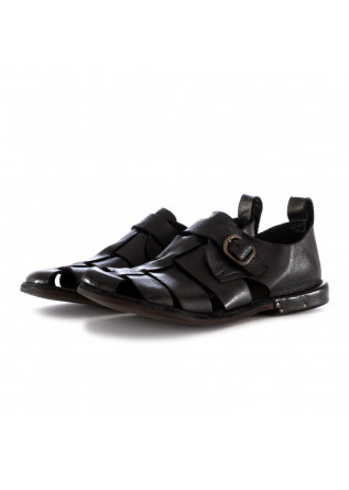 MEN'S SANDALS MANOVIA 52 BLACK LEATHER