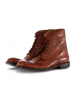MEN'S BOOTS MANOVIA 52 LEATHER REDDISH BROWN