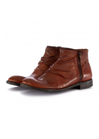 MEN'S ANKLE BOOTS MANOVIA 52 REDDISH BROWN LEATHER