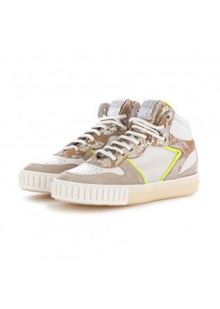 sneakers donna semerdjian beige bianco giallo fluorescente