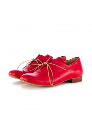 women's lace-up shoes reveries gilda red leather