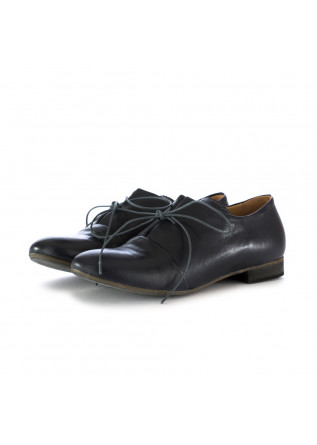 women's lace-up shoes reveries gilda blue leather
