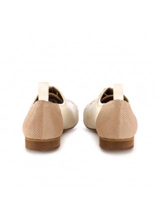 WOMEN'S LACE-UP SHOES REVERIES | GILDA BEIGE WHITE LEATHER