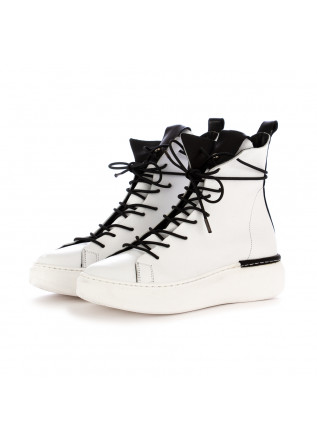 WOMEN'S BOOTS REP-KO SAVAGE WHITE LEATHER