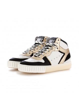 sneakers donna semerdjian nero bianco oro pelle