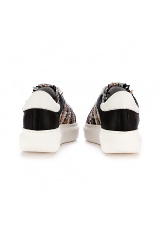 WOMEN'S SNEAKERS SEMERDJIAN | WHITE BLACK BEIGE LEATHER