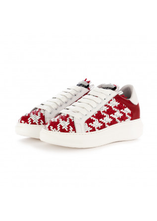 women's sneakers semerdjian red white leather