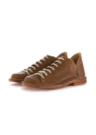 WOMEN'S LACE-UP SHOES MANUFATTO TOSCANO VINCI | BROWN LEATHER