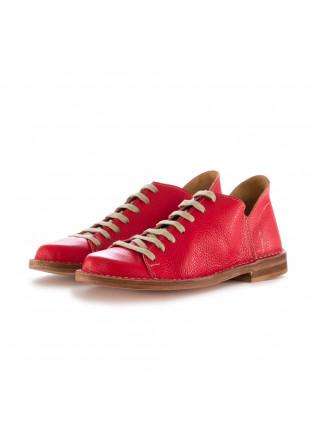 scarpe allacciate donna manufatto toscano vinci rosso pelle